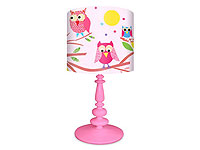 Pink Owls Lamp